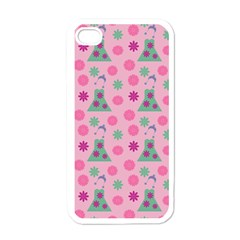 Green Dress Pink Apple Iphone 4 Case (white) by snowwhitegirl