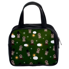 Groundhog Day Pattern Classic Handbags (2 Sides) by Valentinaart