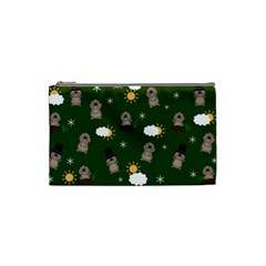 Groundhog Day Pattern Cosmetic Bag (small)  by Valentinaart