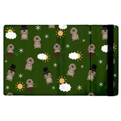 Groundhog Day Pattern Apple Ipad 3/4 Flip Case by Valentinaart