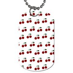 Cherries Dog Tag (two Sides) by snowwhitegirl