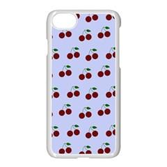 Blue Cherries Apple Iphone 7 Seamless Case (white) by snowwhitegirl