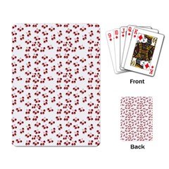 Red Cherries Playing Card by snowwhitegirl