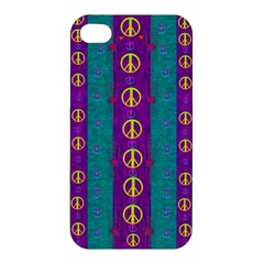 Peace Be With Us This Wonderful Year In True Love Apple Iphone 4/4s Premium Hardshell Case by pepitasart