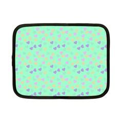 Minty Hearts Netbook Case (small)  by snowwhitegirl