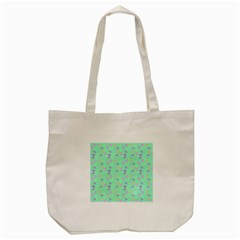 Mint Heart Cherries Tote Bag (cream) by snowwhitegirl