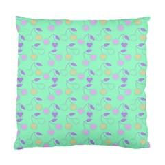 Mint Heart Cherries Standard Cushion Case (one Side) by snowwhitegirl