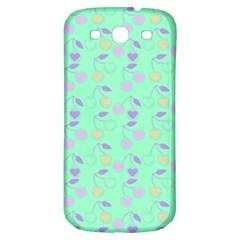 Mint Heart Cherries Samsung Galaxy S3 S Iii Classic Hardshell Back Case by snowwhitegirl