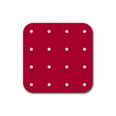 Red Dot Rubber Coaster (square)  by snowwhitegirl