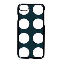 Big Dot Teal Blue Apple Iphone 8 Seamless Case (black) by snowwhitegirl