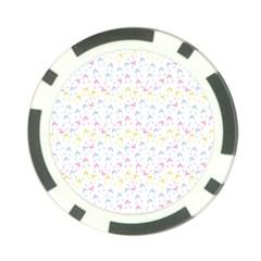 Pastel Hats Poker Chip Card Guard by snowwhitegirl