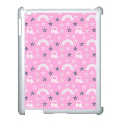 Music Star Pink Apple Ipad 3/4 Case (white) by snowwhitegirl
