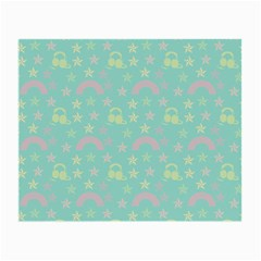 Music Stars Seafoam Small Glasses Cloth (2 Side) by snowwhitegirl