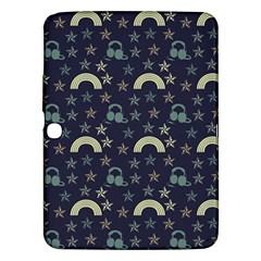 Music Stars Dark Teal Samsung Galaxy Tab 3 (10 1 ) P5200 Hardshell Case  by snowwhitegirl