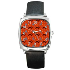 Music Stars Red Square Metal Watch by snowwhitegirl