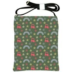 Music Stars Grass Green Shoulder Sling Bags by snowwhitegirl