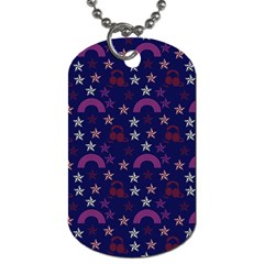 Music Stars Navy Dog Tag (two Sides) by snowwhitegirl