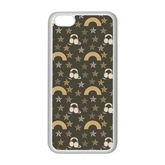 Music Stars Grey Apple Iphone 5c Seamless Case (white) by snowwhitegirl