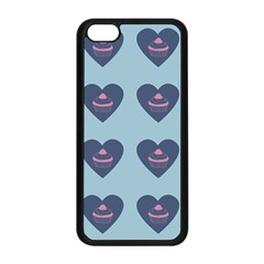 Cupcake Heart Teal Blue Apple Iphone 5c Seamless Case (black) by snowwhitegirl