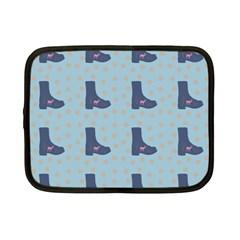 Deer Boots Teal Blue Netbook Case (small)  by snowwhitegirl
