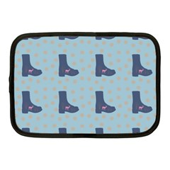 Deer Boots Teal Blue Netbook Case (medium)  by snowwhitegirl