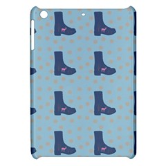 Deer Boots Teal Blue Apple Ipad Mini Hardshell Case by snowwhitegirl