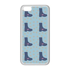 Deer Boots Teal Blue Apple Iphone 5c Seamless Case (white) by snowwhitegirl