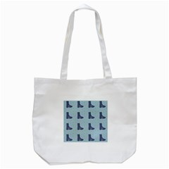 Deer Boots Teal Blue Tote Bag (white) by snowwhitegirl