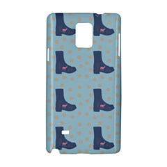 Deer Boots Teal Blue Samsung Galaxy Note 4 Hardshell Case by snowwhitegirl