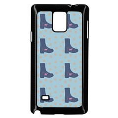 Deer Boots Teal Blue Samsung Galaxy Note 4 Case (black) by snowwhitegirl