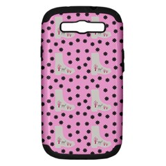 Deer Boots Pink Grey Samsung Galaxy S Iii Hardshell Case (pc+silicone)