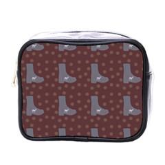 Deer Boots Brown Mini Toiletries Bags by snowwhitegirl