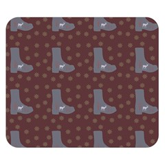Deer Boots Brown Double Sided Flano Blanket (small)  by snowwhitegirl