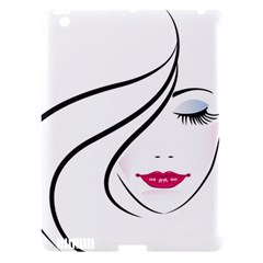 Makeup Face Girl Sweet Apple Ipad 3/4 Hardshell Case (compatible With Smart Cover) by Mariart