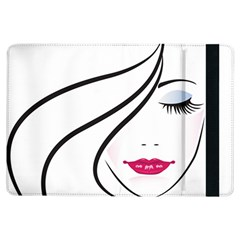 Makeup Face Girl Sweet Ipad Air Flip by Mariart