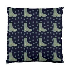 Blue Boots Standard Cushion Case (one Side) by snowwhitegirl