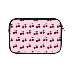 Pink Cherries Apple Ipad Mini Zipper Cases by snowwhitegirl