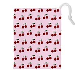 Pink Cherries Drawstring Pouches (xxl)