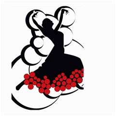 Flamenco Dancer Small Garden Flag (two Sides)