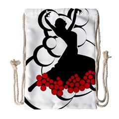 Flamenco Dancer Drawstring Bag (large)