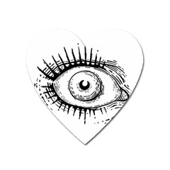 Big Eye Monster Heart Magnet by AnjaniArt