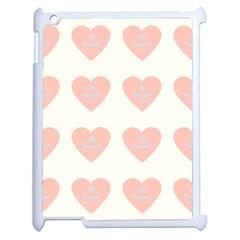 Cupcake White Pink Apple Ipad 2 Case (white) by snowwhitegirl