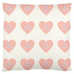 Cupcake White Pink Large Cushion Case (two Sides) by snowwhitegirl