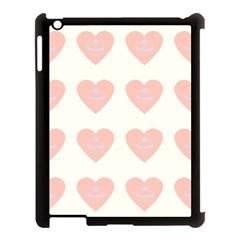 Cupcake White Pink Apple Ipad 3/4 Case (black)