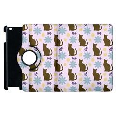 Outside Brown Cats Apple Ipad 3/4 Flip 360 Case by snowwhitegirl