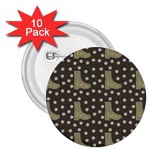 Charcoal Boots 2 25  Buttons (10 Pack)  by snowwhitegirl