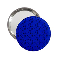 Royal Blue Music 2 25  Handbag Mirrors