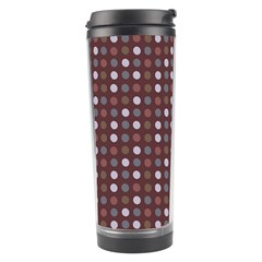 Grey Pink Lilac Brown Eggs On Brown Travel Tumbler by snowwhitegirl