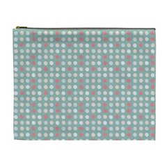 Pink Peach Grey Eggs On Teal Cosmetic Bag (xl) by snowwhitegirl