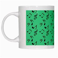 Green Music White Mugs by snowwhitegirl